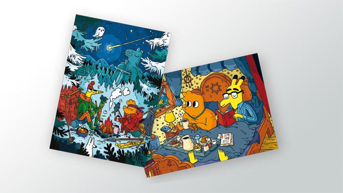 Pimo & Rex Winterpostkarten